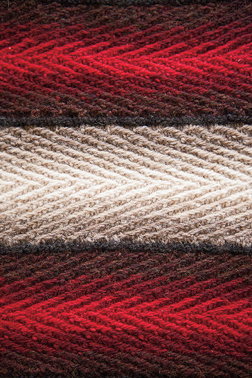 Shadow Weave Placemat and Runner - hand knitting pattern