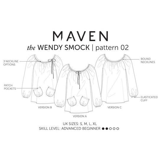 The Wendy Artisan Smock Top | PDF sewing pattern by Maven Patterns
