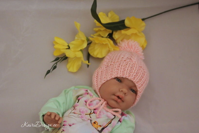 Baby doll hat and scarf knitting pattern