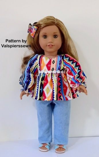 """The 18"""" Dress: A Lined Bodice Pattern to fit popular 18"""" dolls"""