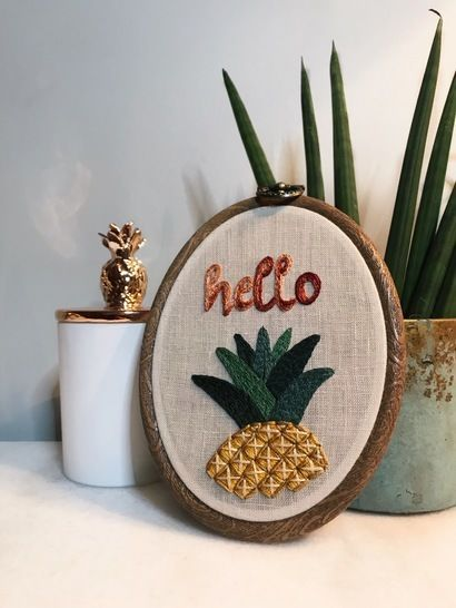 Ananas - embroidery pattern