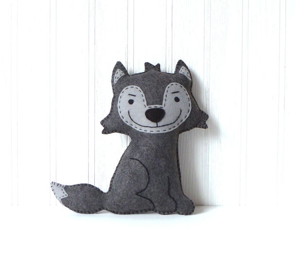 Wolf Pattern, Felt Hand Sewing Pattern -- Big Bad Wolf