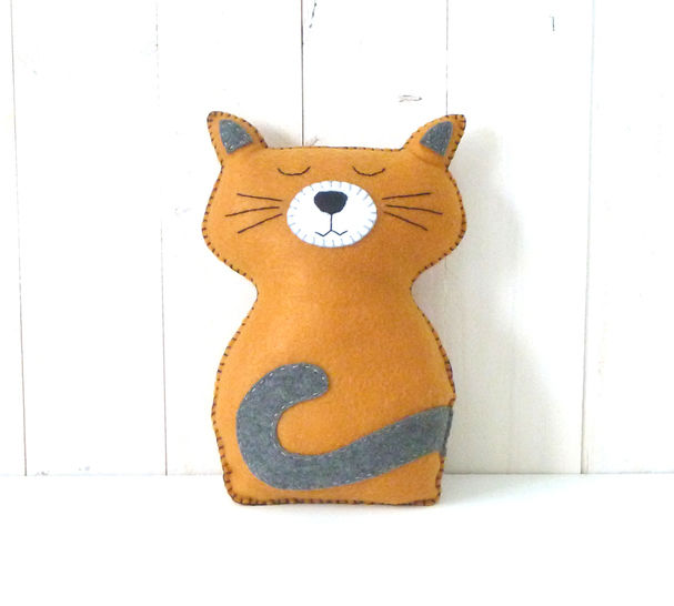Cat Sewing Pattern, Felt Cat Hand Sewing Pattern