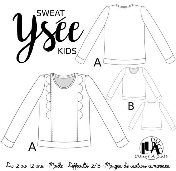 Sweat Ysée Kids - du 2 au 12 ans