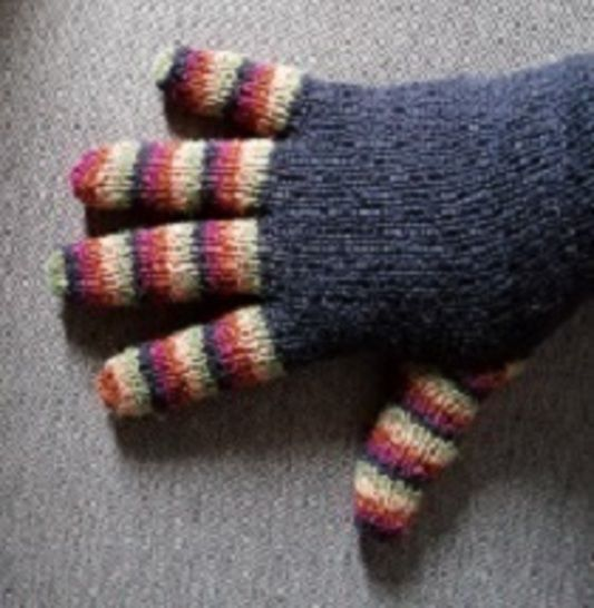 Gants multicolores