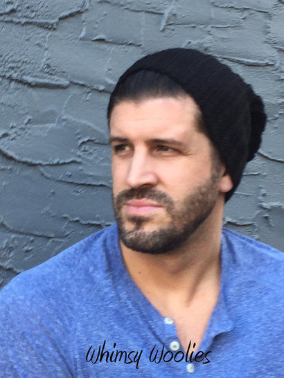Crochet Hat Pattern Baby to Men RIBBED SLOUCH HAT