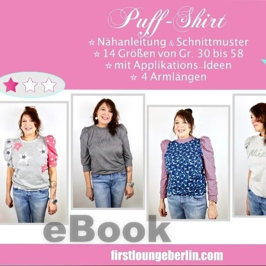 Puff-Shirt Sweater Damen Puffärmel Sommershirt Top Langarm