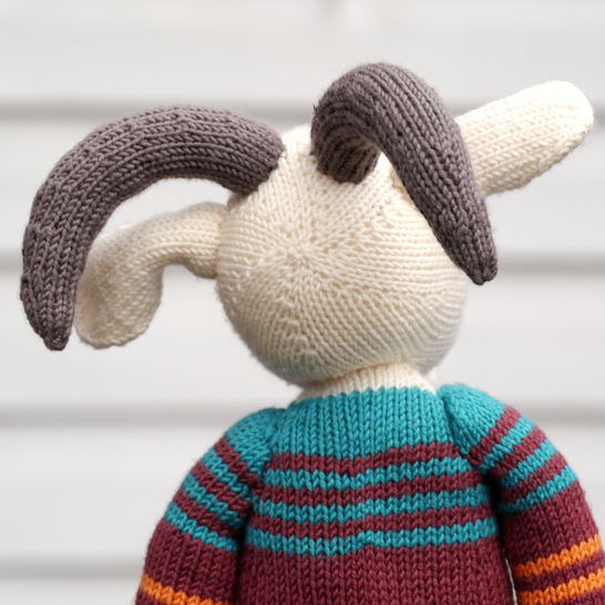 ERICH THE GOAT soft toy knitting pattern
