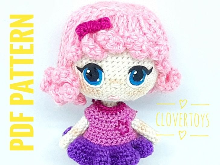 Amazing Amigurumi Dolls Free Crochet Patterns | 546x728