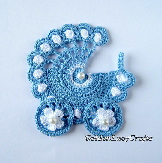 Baby Stroller Applique, Carriage, Buggy, Pram