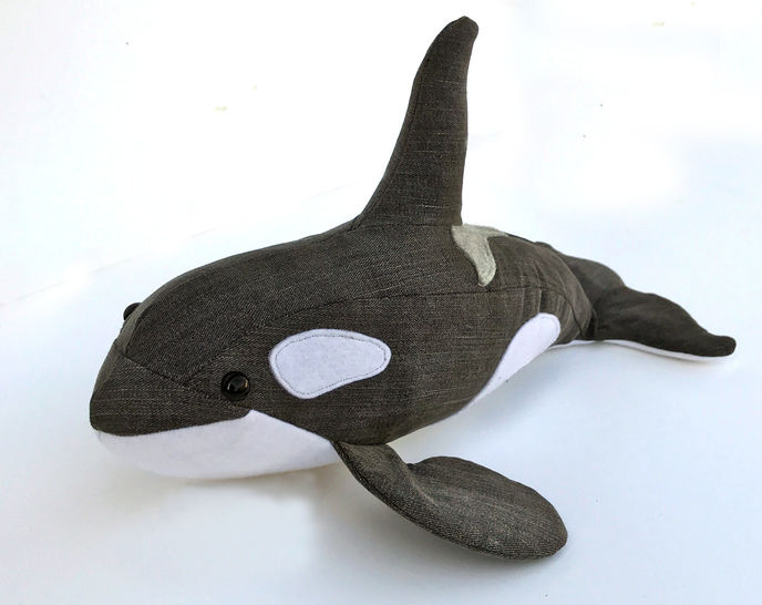 Orca plush sewing pattern - instant download pdf