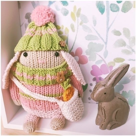 Hand Knitted Mini Bunny Rabbit Toy 'Blossom' PDF