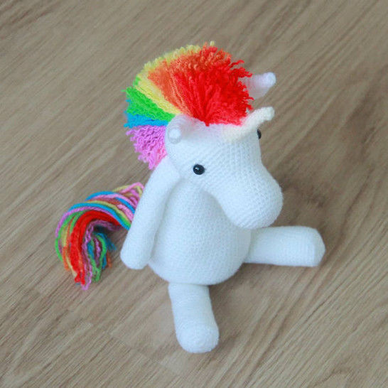 Dada Neon Crochet: Tiny Rainbow Unicorn Amigurumi by Ahooka - As a ... | 546x546