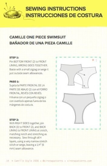 Camille Halter High Waisted One Piece PDF Pattern