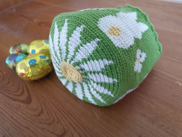 Easter egg basket bunny - Crochet pattern
