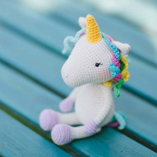 Ulyssa the Unicorn | Free Crochet Pattern | Hooked by Kati | 546x546