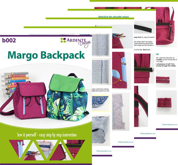Medium Margo backpack - backpack pattern and tutorial