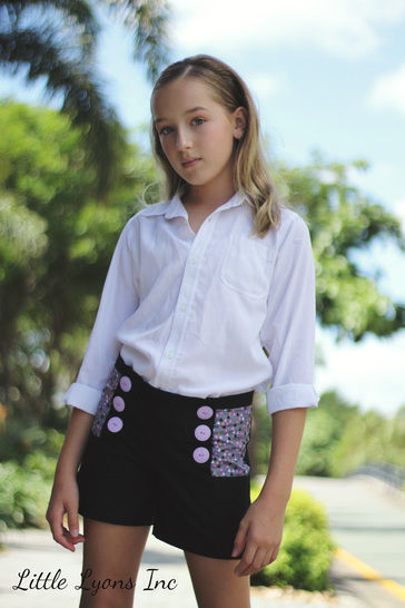 The Oceaan Shorts Sewing Pattern for Sizes 3-12y