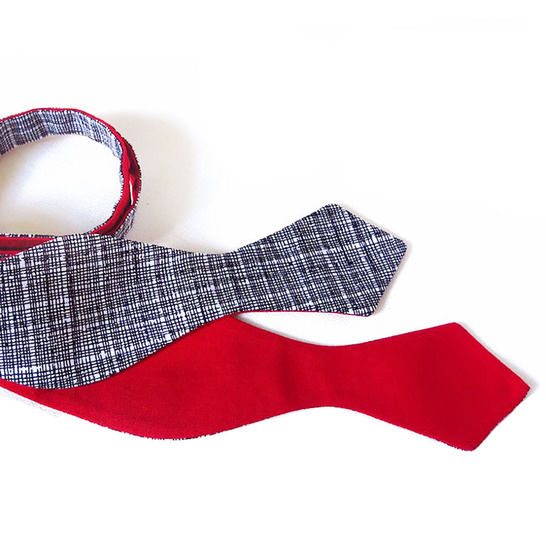 freestyle bow tie in two styles - sewing pattern