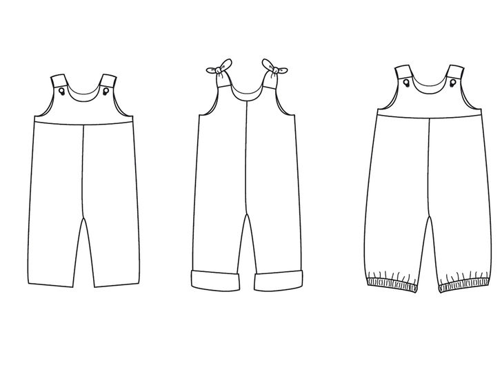 BOBBY Baby overall dungaree jumpsuit pattern