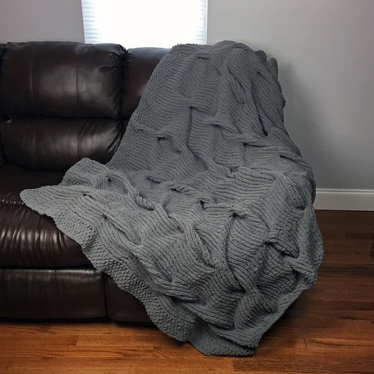 Lazy Cable Blanket