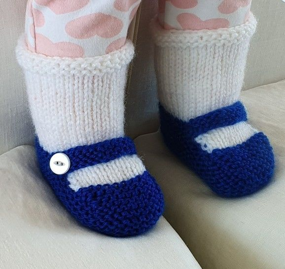Baby's Mary Jane style shoe with attached sock - Vanessa