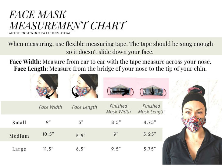 Face Mask Sewing Pattern For Kids & Adults