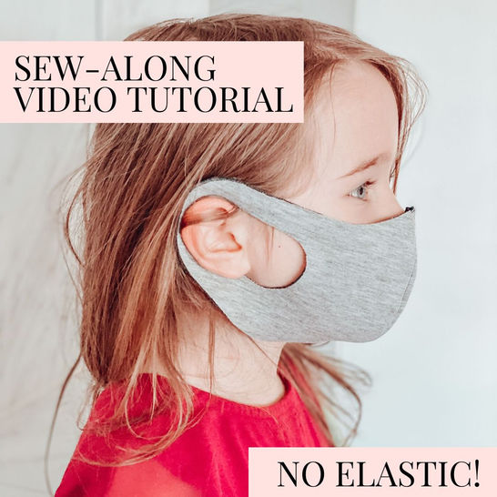 Stretch Face Mask Sewing Pattern For Kids & Adults