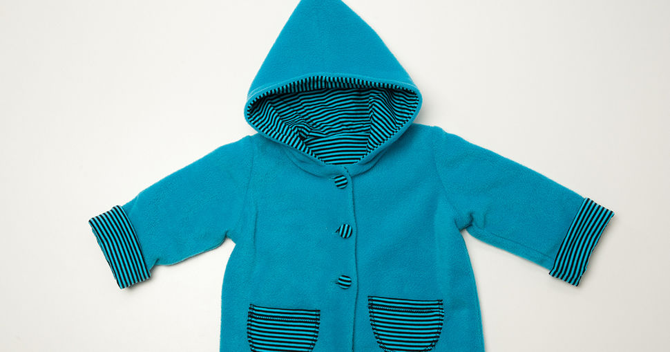 TORETTO baby cardigan pattern with hood