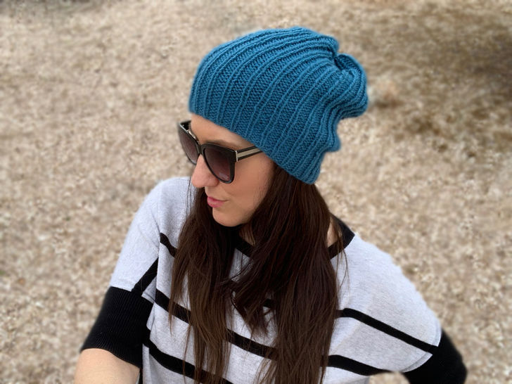 Easy Knit Beanie Duo