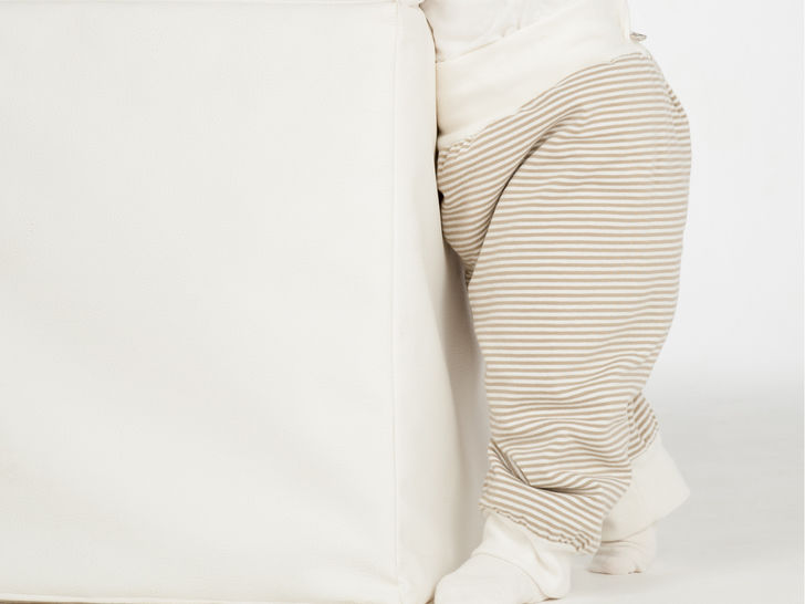 LUCCA Baby sweatpants pattern, reversible pants with ribbing
