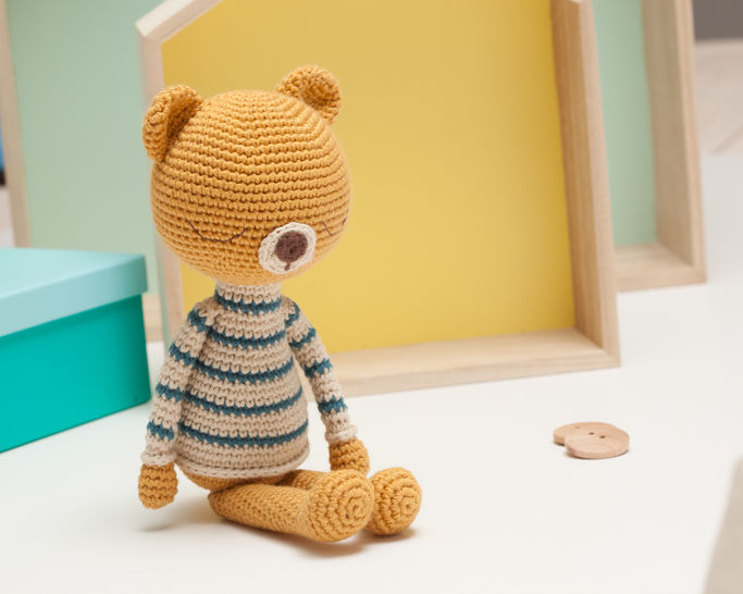 Bear crochet pattern, amigurumi bear pattern