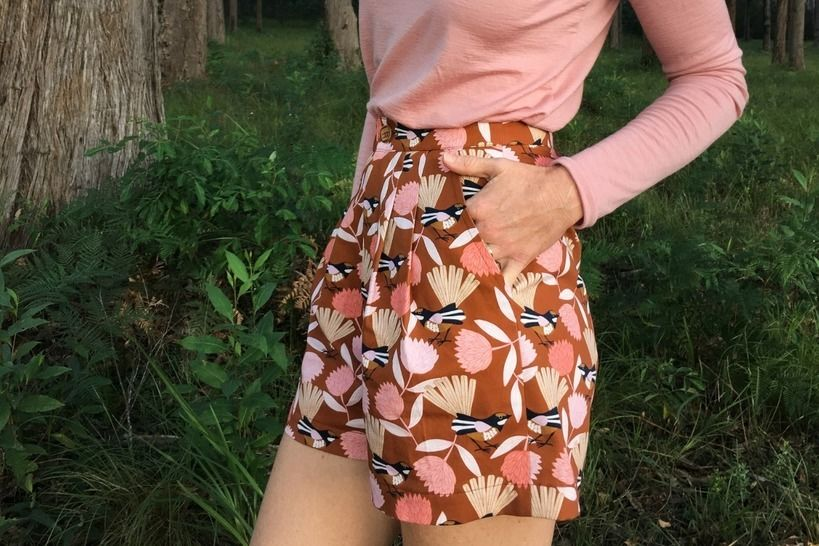 Heather - High Waist Front Pleat Shorts Sewing Pattern