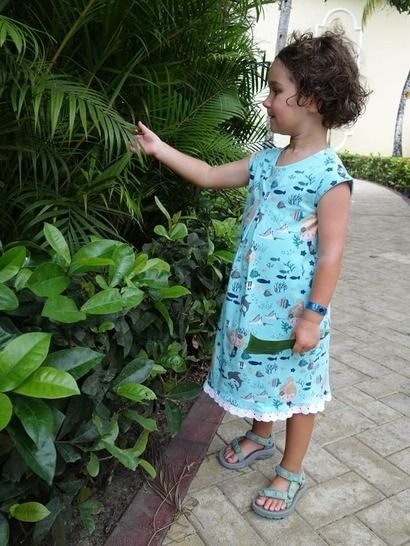 SunnyMe Girls - Pattern Summer Shirt with inverted pleat