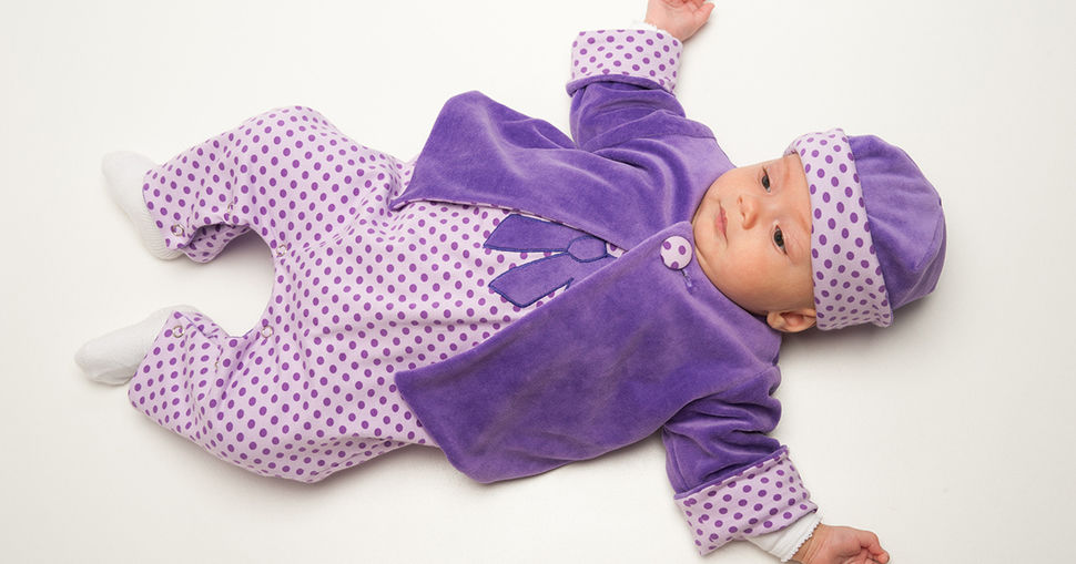 Baby pattern for jacket, overall and beanie, clothing set