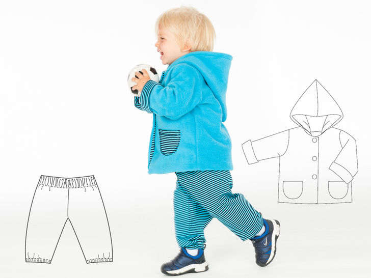 TORINO & TORETTO Baby jacket and pants pattern bundle