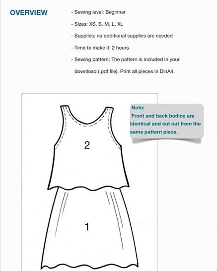 Dress #Felicia sewing instructions and pattern (XS-XL)
