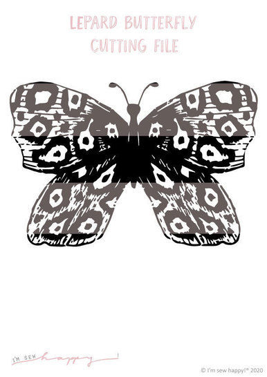 Cutting file lepard butterfly commercial use