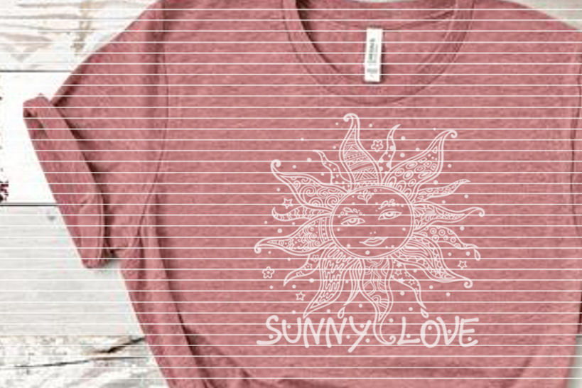 """Cutting file """"sunny love"""" for Ironing-picture SVG DXF"""