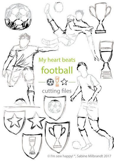 Cutting files football motifs commercial use