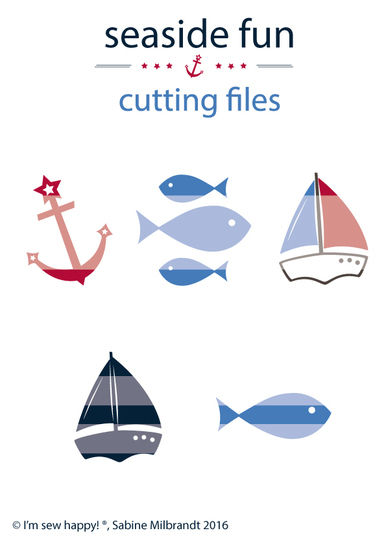 Cutting files seaside fun commercial use