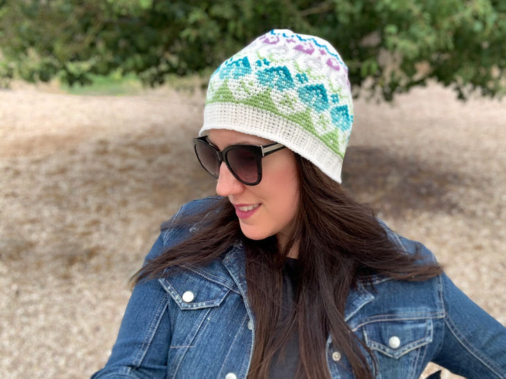 Wildflower Beanie Crochet Pattern