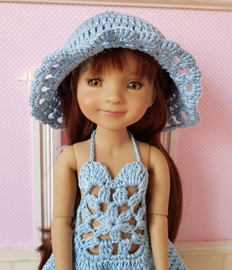 """Marjolaine"" patron crochet poupée Fashion Friends"