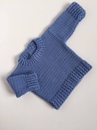 Jamie Baby Sweater and Hat Crochet Pattern