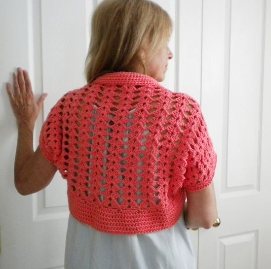 Watermelon Bolero/Shrug- Crochet Pattern
