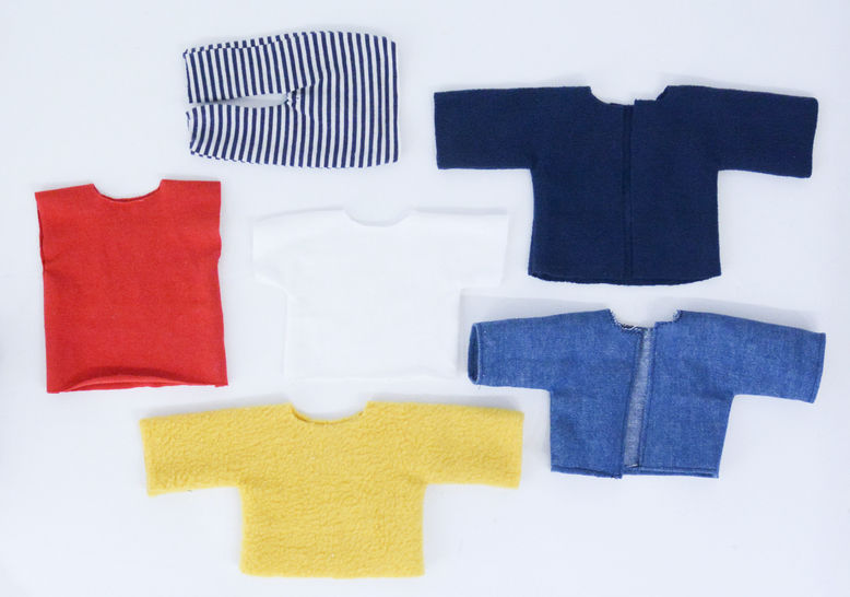 knit fabric clothes pattern accessories for stuffed animal