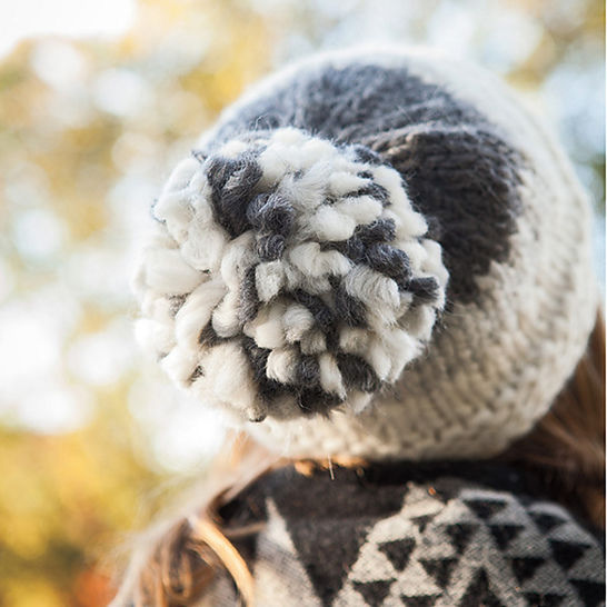 Fog Bank Hat and Mittens - hand knitting pattern