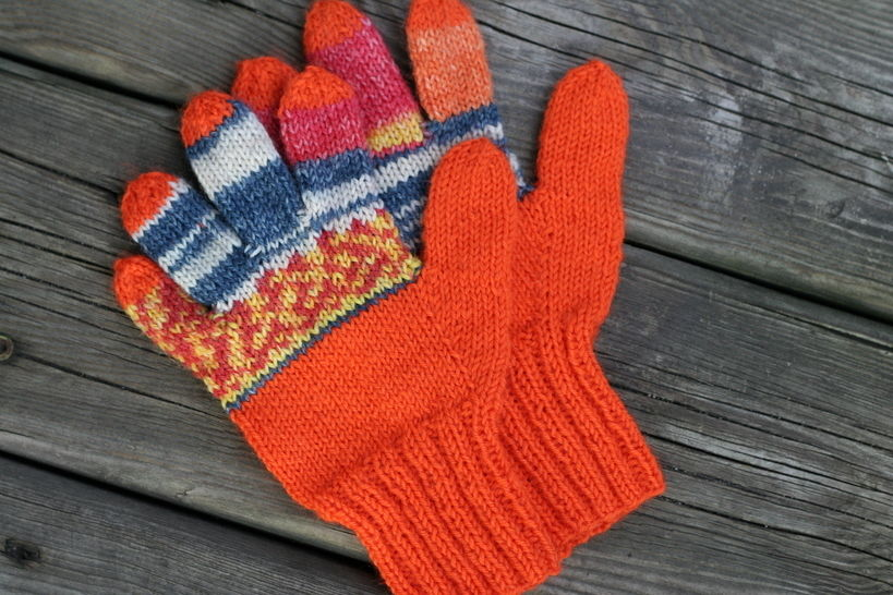 Guess Who? gloves - hand knitting pattern