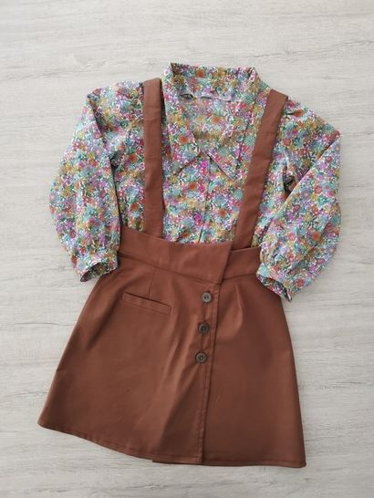 """Pack jupe """"Marelle""""+chemise """"Lou"""" duo mère-fille"""