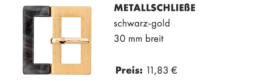 Metallschließe mit Dorn